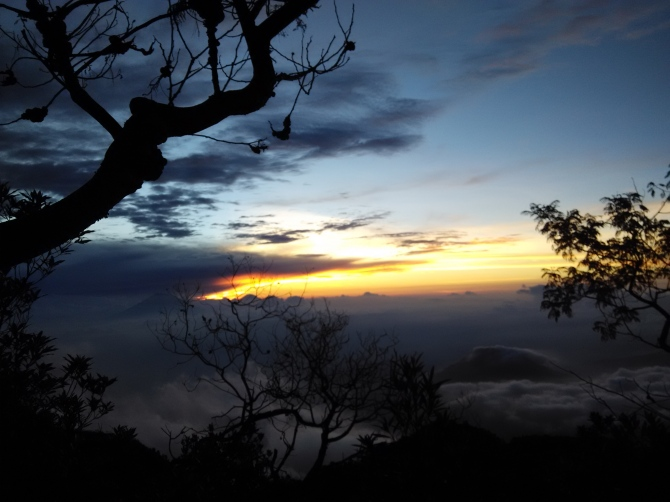 sunset merbabu